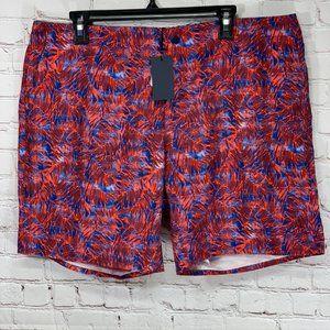 Zachary Prell Red Avondale Palm Print Board Shorts